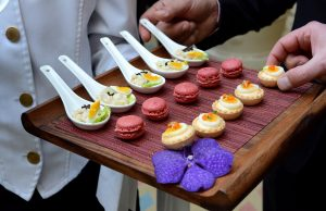 Stylish canapes