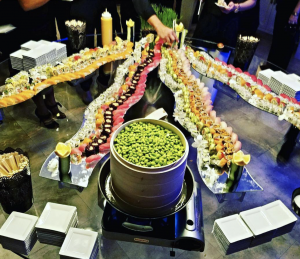 Creative display of food